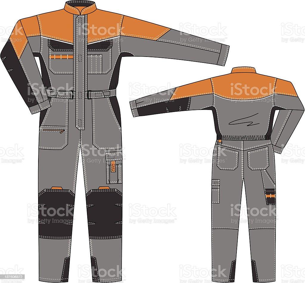 Overalls vector art illustration