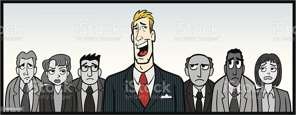 Overbearing Boss vector art illustration