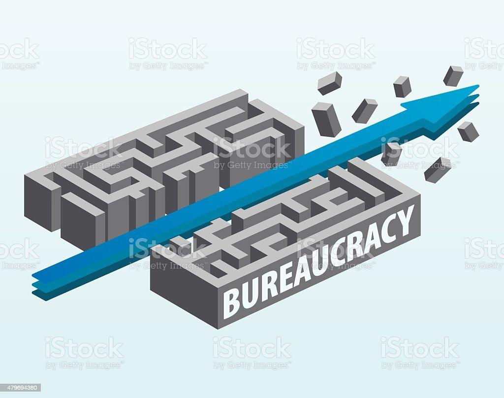 Overcoming Bureaucracy vector art illustration