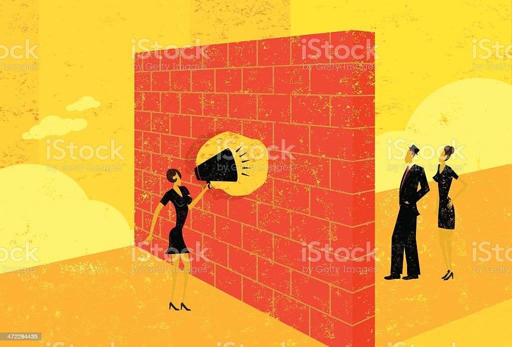 Overcoming communication barriers royalty-free stock vector art