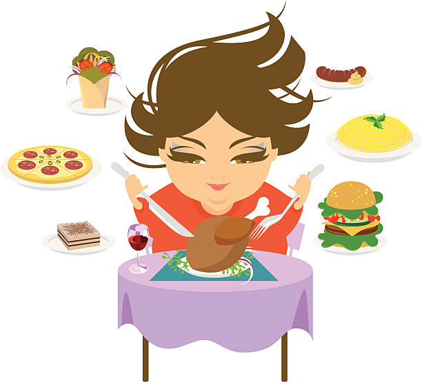 Objadania się. – artystyczna grafika wektorowa