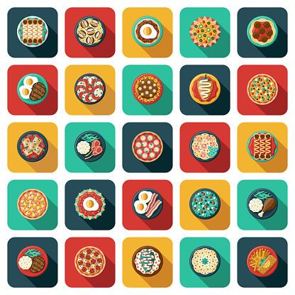 Overhead Food Icon Set