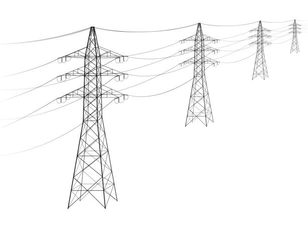 Best Electric Pole Illustrations, Royalty-Free Vector Graphics