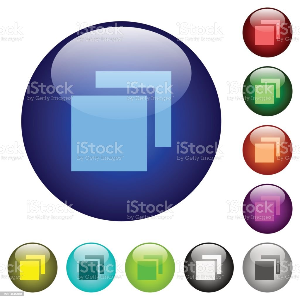 Overlapping elements color glass buttons royalty-free overlapping elements color glass buttons stock vector art & more images of arrangement