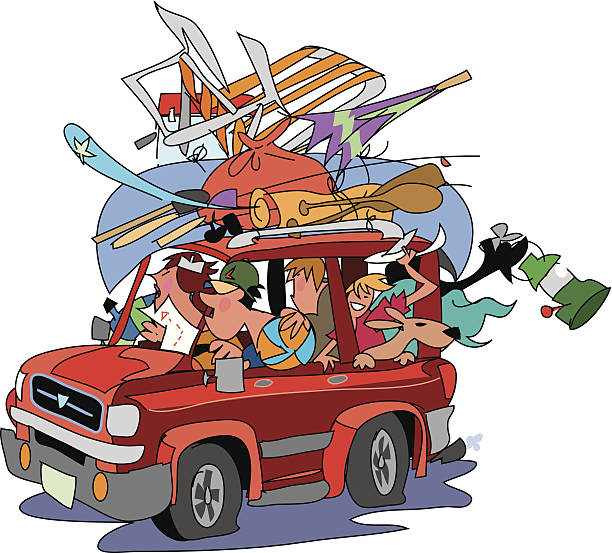 Family Road Trip Clip Art, Vector Images & Illustrations ...