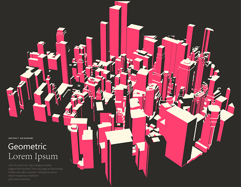 overlook modern city landscape poster