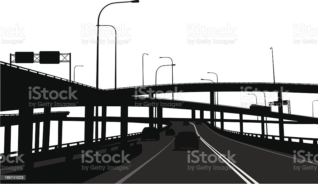 Overpassing  Vector Silhouette royalty-free stock vector art