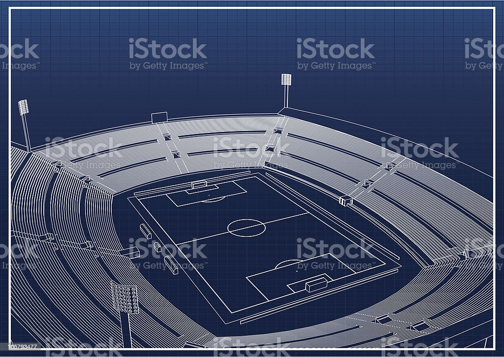 Overview of soccer stadium blueprint stock vector art more images overview of soccer stadium blueprint royalty free overview of soccer stadium blueprint stock vector art malvernweather Choice Image