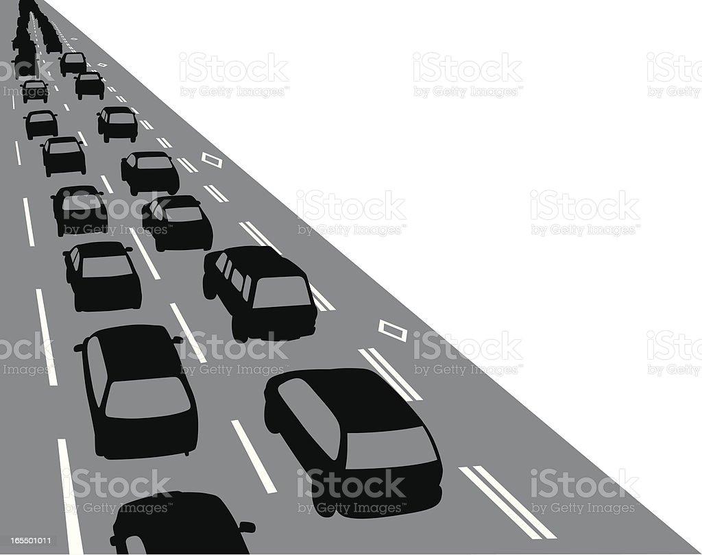 Overview Traffic Vector Silhouette vector art illustration