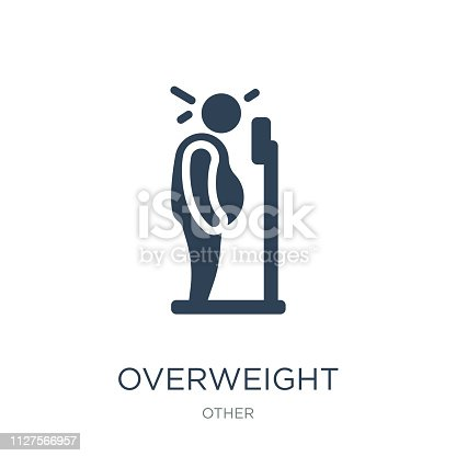 istock overweight icon vector on white background, overweight trendy fi 1127566957