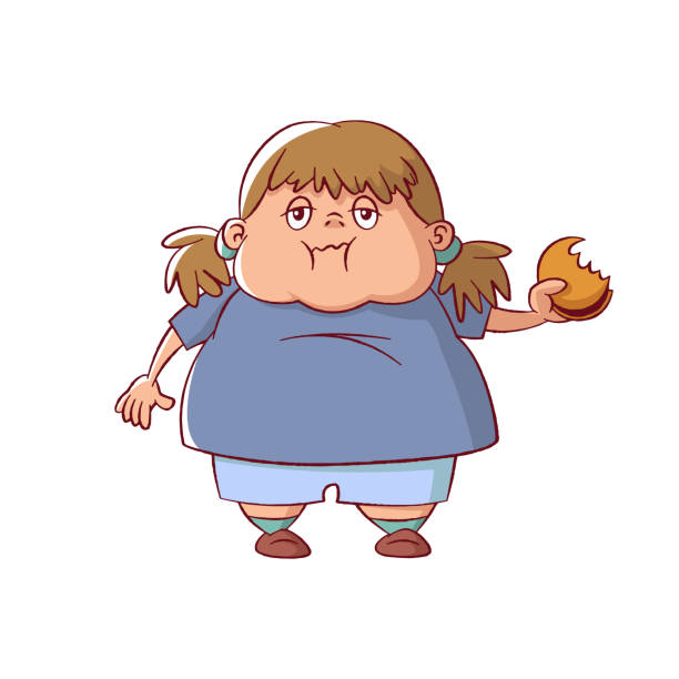 Chubby Girl Illustrations, Royalty-Free Vector Graphics  Clip Art - Istock-3353