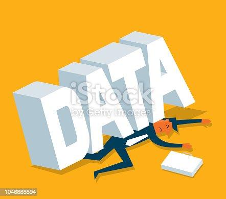Businessman under the Data