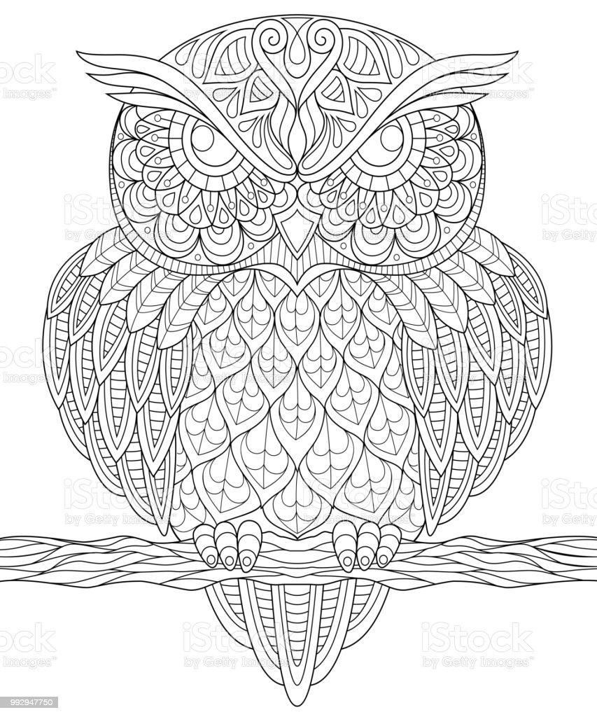dieren kleurplaten uilen