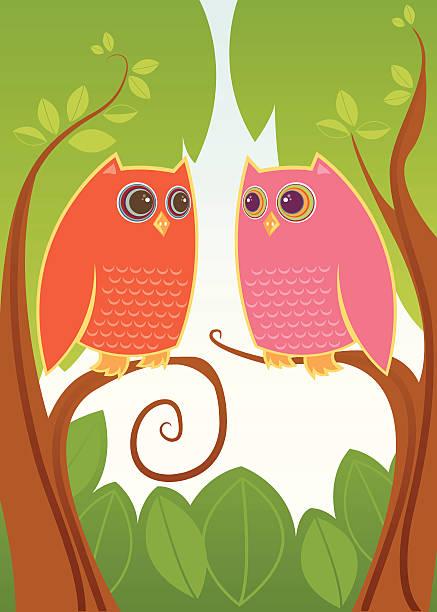 Chouette toujours Love You - Illustration vectorielle