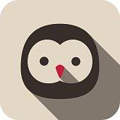 owl animal face flat icon series