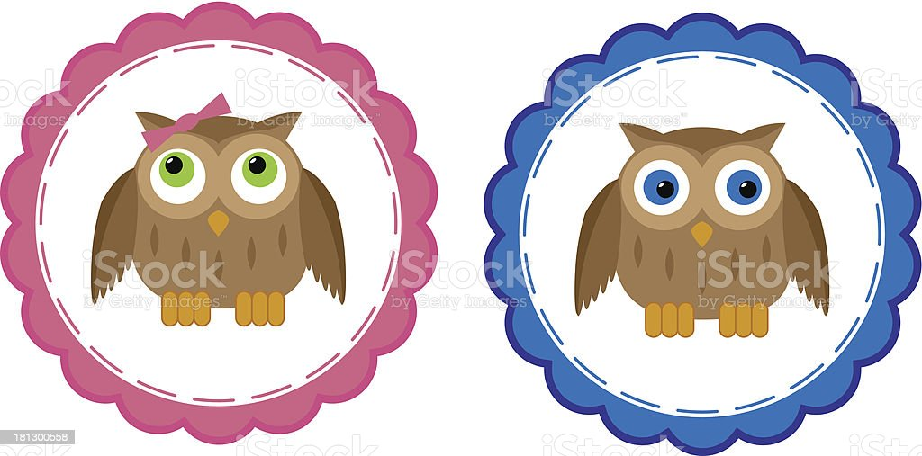 Owl Babies royalty-free stock vector art