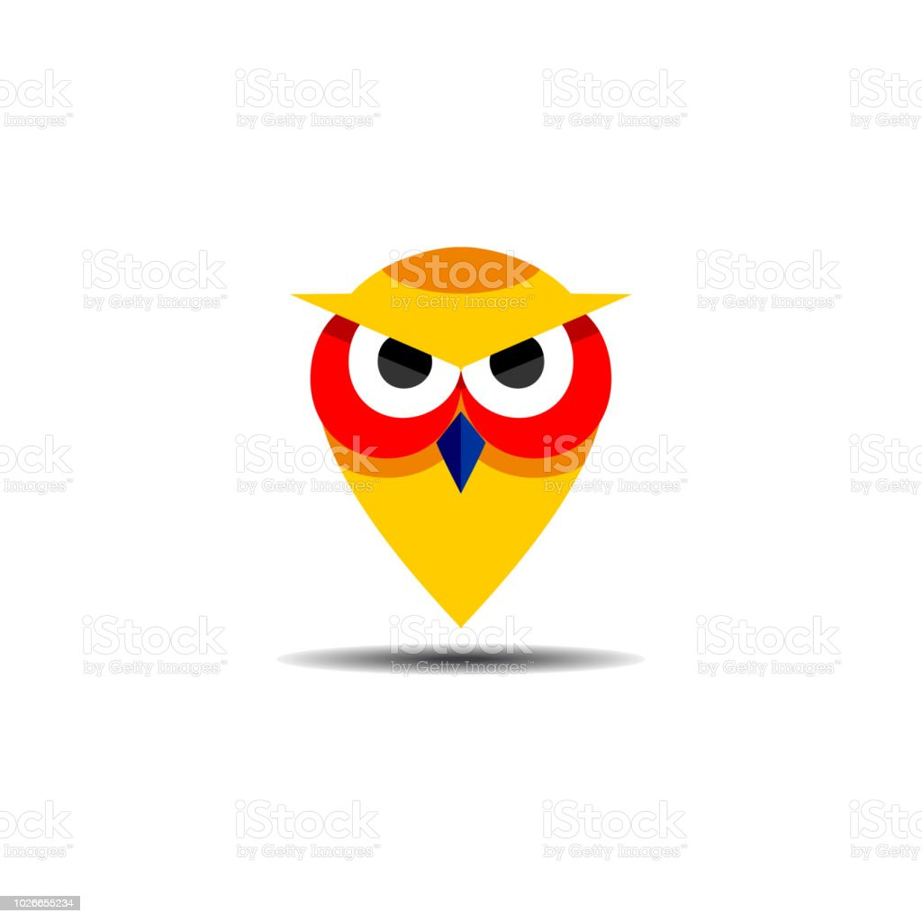 Owl Bird Logo Head Icon Education Symbol Vector Template Ready For Use