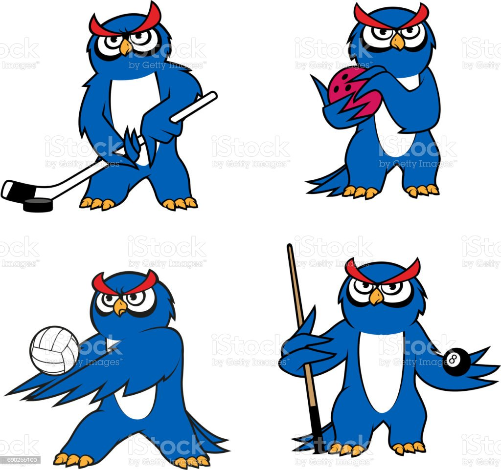 owl bird mascot for sport club or team design stock vector art rh istockphoto com Snowboard Clip Art Owl Desk Owl Clip Art