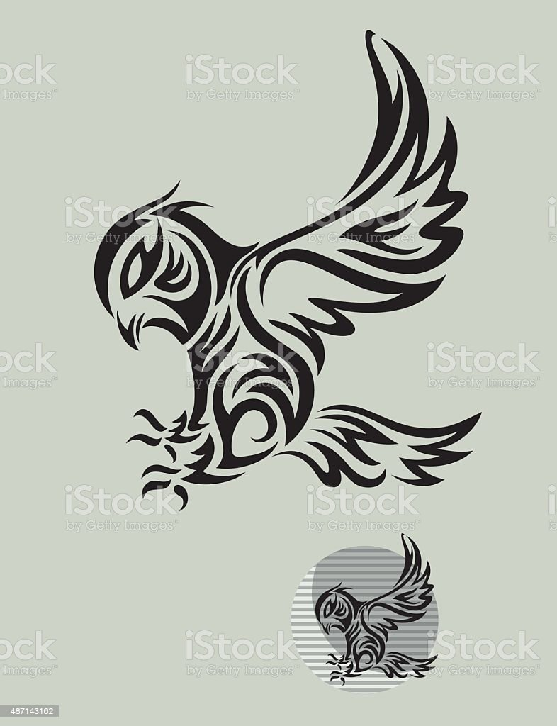 Royalty Free Clip Art Of Tribal Owl Tattoo Designs Clip Art Vector