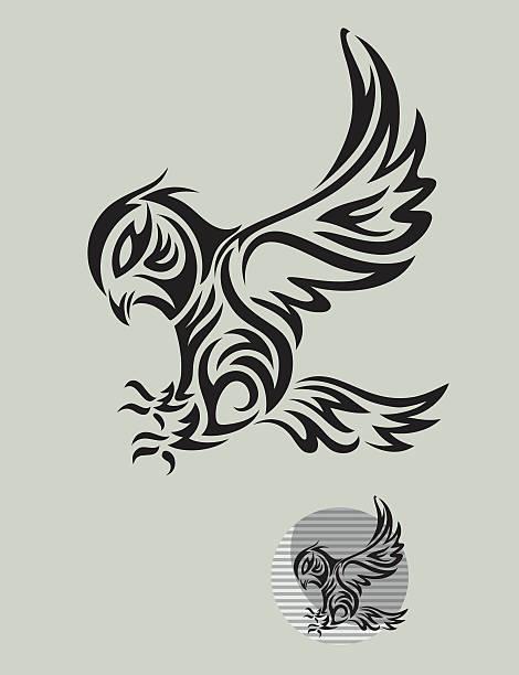 Royalty Free Clip Art Of Tribal Owl Tattoo Designs Clip Art Vector