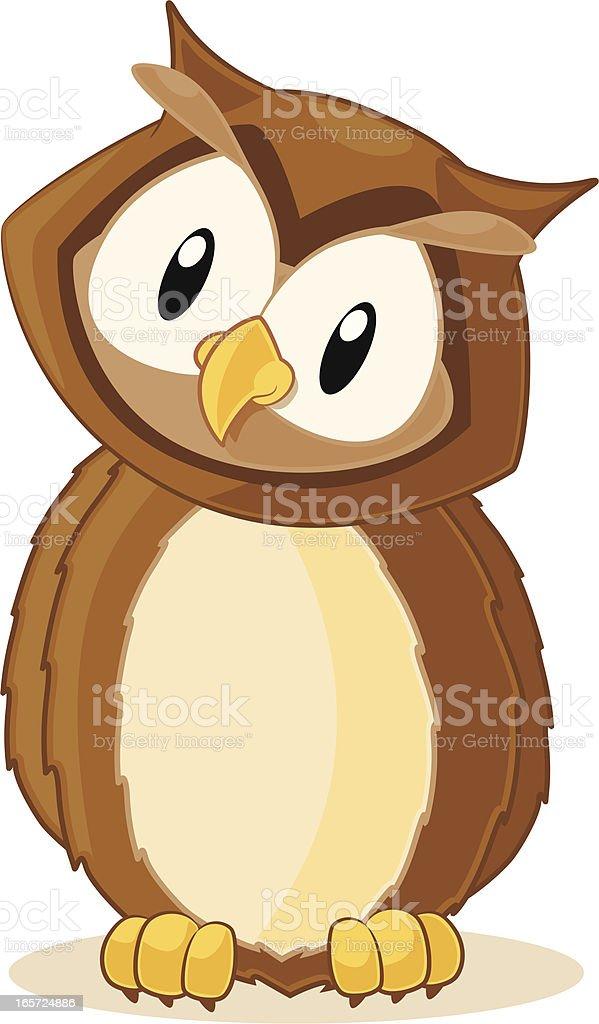 Owl Cartoon royalty-free stock vector art