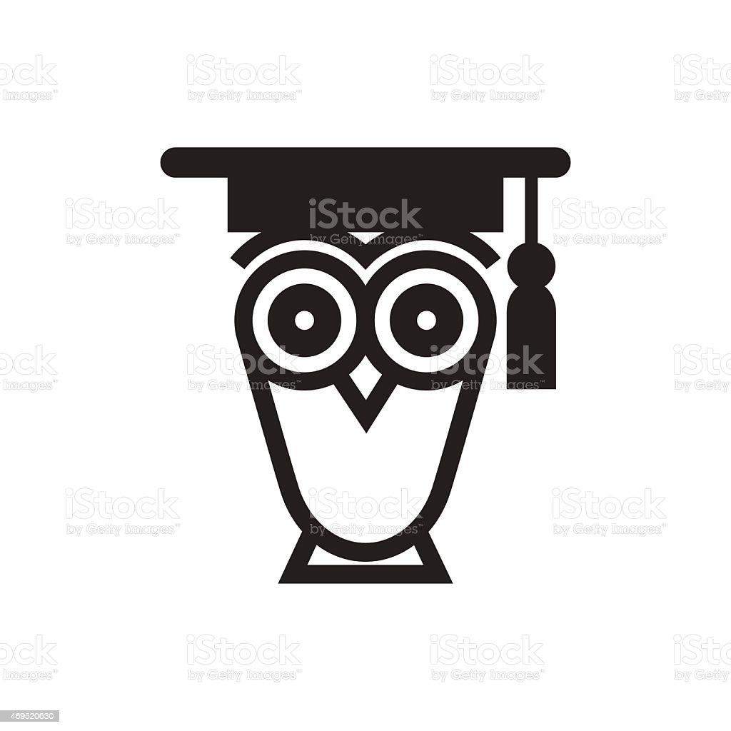 Búho símbolo educativo - ilustración de arte vectorial