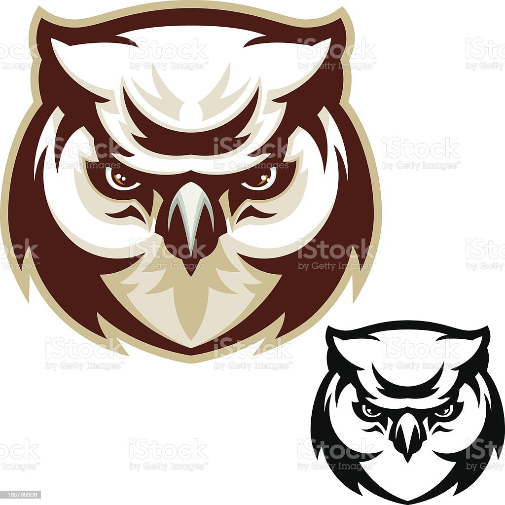 Owl Head vector art illustration
