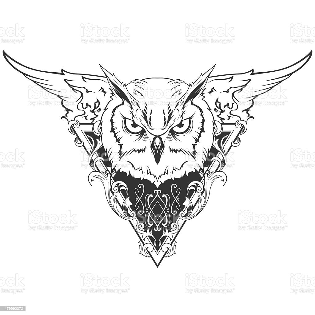 Owl Head Stock Vector Art & More Images of 2015 479990072 ...