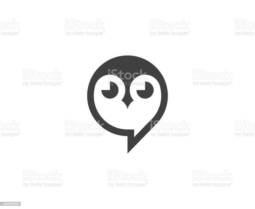 Owl icon vector art illustration