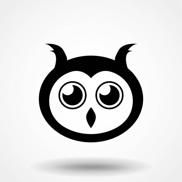 Royalty Free Silhouette Of A Barn Owl Tattoo Designs Clip Art