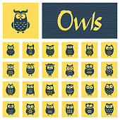 Owl Icon Set