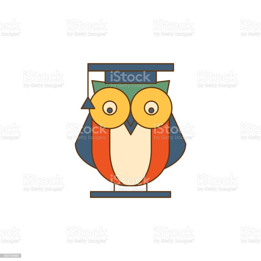Búho en manto logotipo - ilustración de arte vectorial