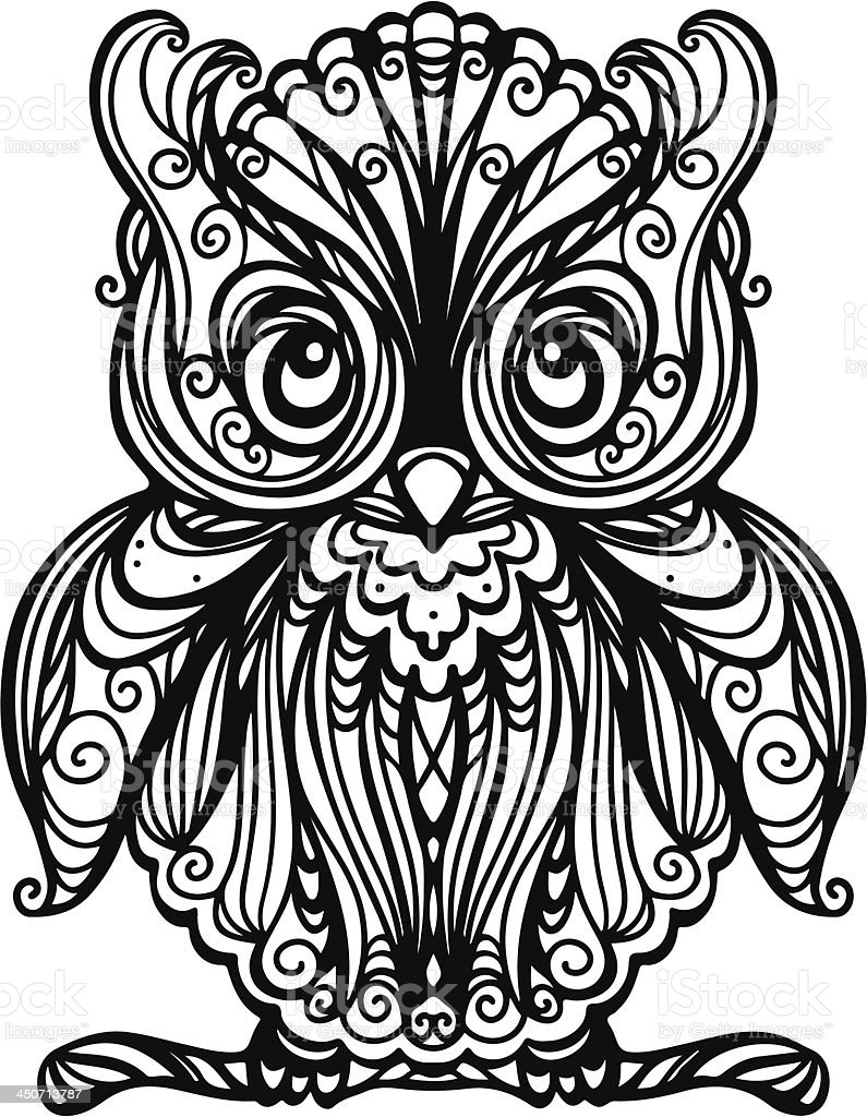 Owl isolated royalty-free stock vector art