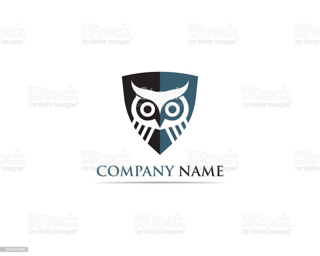 symbole et le logo de la Chouette symbole et le logo de la chouette vecteurs libres de droits et plus d'images vectorielles de abstrait libre de droits