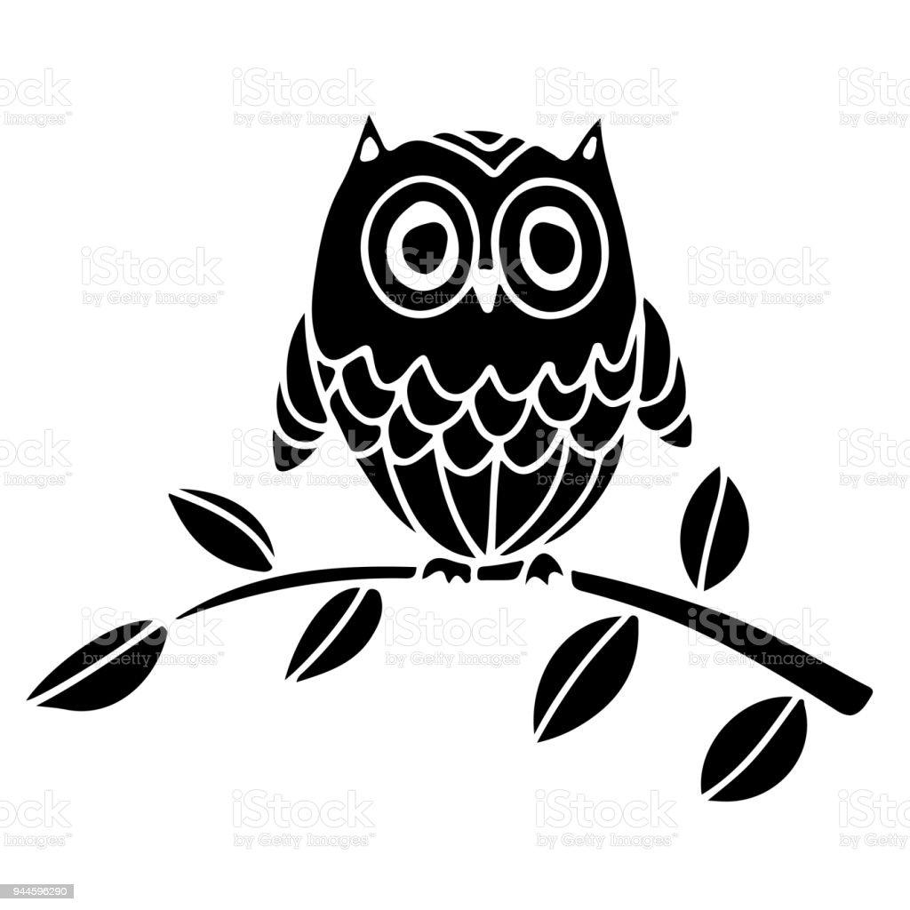 eule auf einem ast stock vektor art und mehr bilder von ast pflanzenbestandteil 944596290 istock. Black Bedroom Furniture Sets. Home Design Ideas
