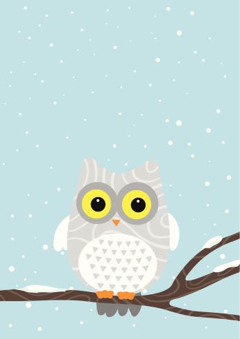 Owl on Winter card