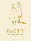 istock Owl Party Invitation 1096012006