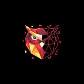 Owl Polygon concept illustration vector Design template