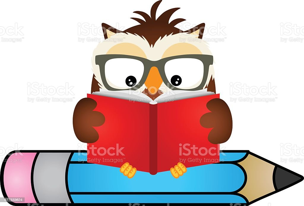 royalty free clip art of owl reading clip art vector images rh istockphoto com