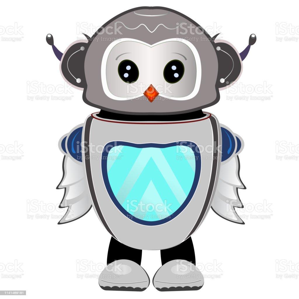 Robot De Hibou Sur Un Fond Transparent Vecteurs Libres De Droits Et Plus D Images Vectorielles De Abstrait Istock