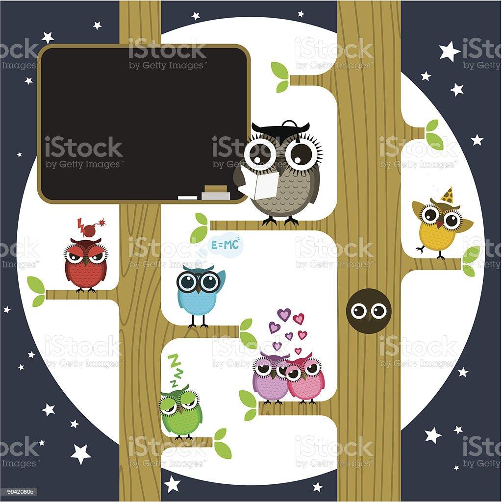 Owl school royalty-free stock vector art