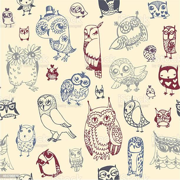 Owl seamless background hand drawn vector illustration vector id464296885?b=1&k=6&m=464296885&s=612x612&h=q8zzbzqfwqqym7fps0te8fdsgwckzh0qhzb kr8tsto=