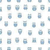 istock Owl seamless pattern 1043629704