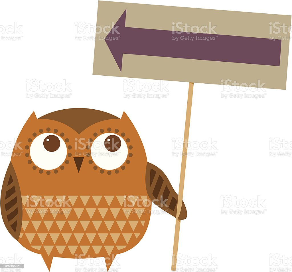 Owl sign royalty-free stock vector art