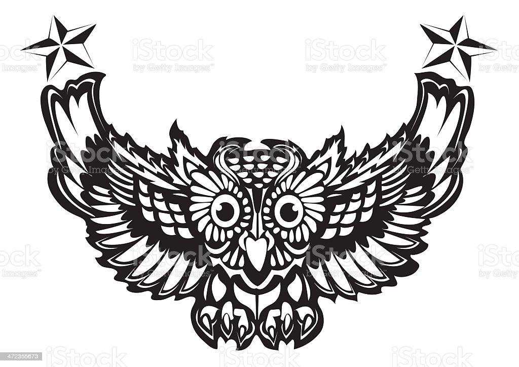 Ilustración de Búho Tatuaje y más banco de imágenes de Abstracto ...