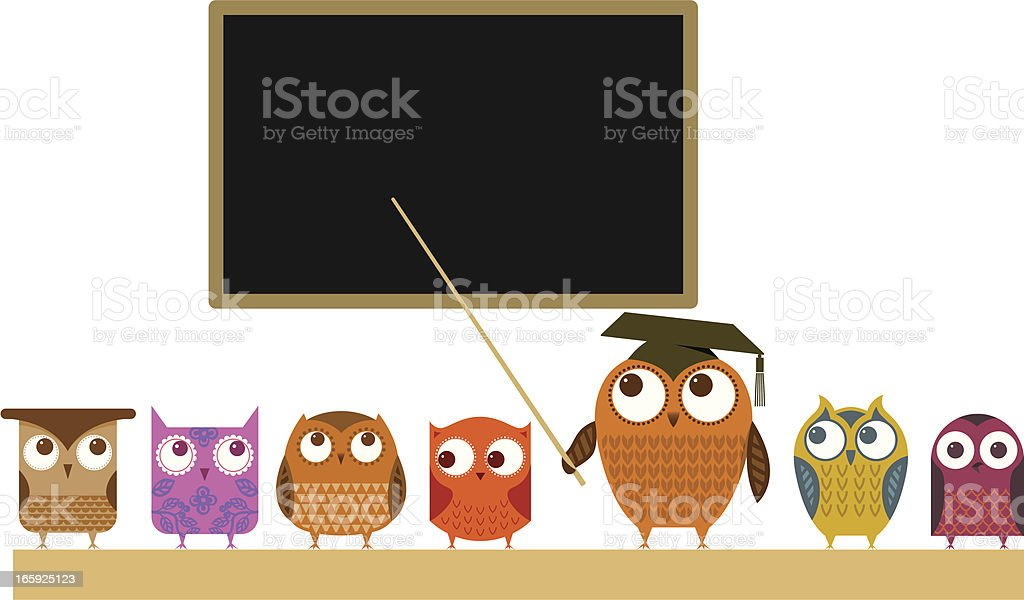 Owl teacher and class