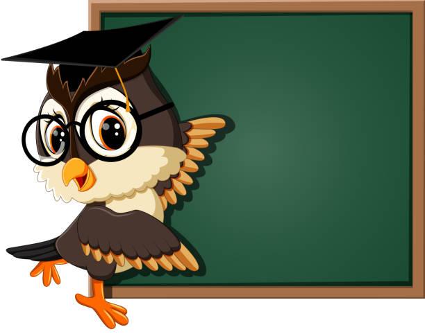 Royalty Free Owl Teacher Cartoon Animated Cartoon Clip Art ...