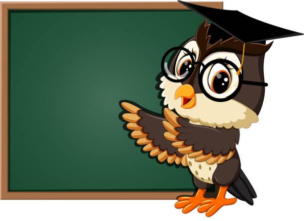 Royalty Free Owl Teacher Cartoon Animated Cartoon Clip Art ... (612 x 445 Pixel)