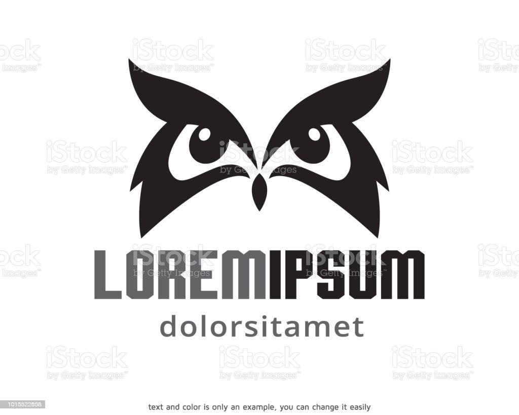 Eule Vorlage Design Vektor Emblem Designkonzept Kreativen Symbol ...