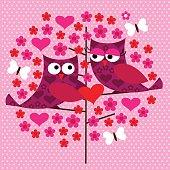 owl valentine pattern